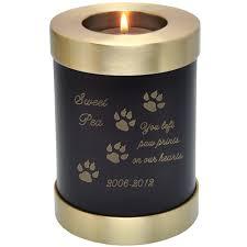 urns for pets pet memorial candle holder cat urn espresso