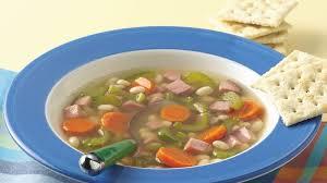 slow cooker vegetable bean and ham soup recipe bettycrocker com