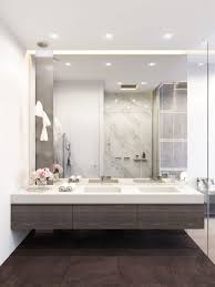Modern Bathroom Mirrors by Big Bathroom Mirror Trend In Real Interiors