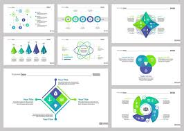 Eight Consulting Slide Templates Set Vector Free Download Slide Templates
