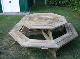 octagon picnic table by wecoyote lumberjocks com woodworking