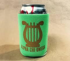 huggie drink alpha chi omega printed symbol drink huggie