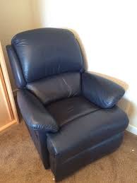 Navy Blue Leather Club Chair Navy Blue Leather Recliner Chair Fully Functioning In Great