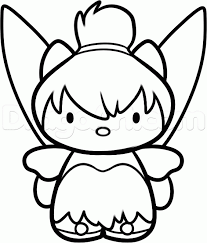 draw tinkerbell kitty step step characters pop