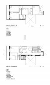 space savvy kitchen and mezzanine in small barcelona apartment view in gallery original and revamped floor plan of modest apartment in barcelona