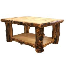 log coffee table country western rustic cabin wood table living