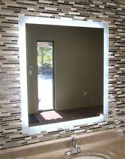 lighted vanity mirror wall mount lighted wall mounted bathroom mirrors ebay