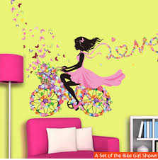 DIY Wall Sticker Kids Room Decoration Butterfly Princess Bike Girl - Butterfly kids room