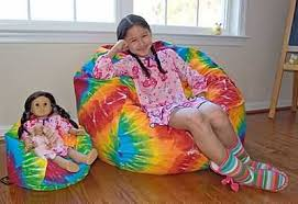 bean bag chairs for girls and american size dolls
