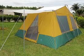 Tent Cabin by Two Room Cabin Tent 10 U0027 X 14 U0027 Two 10 U2032x7 U2032 Cabins Rugged Frame