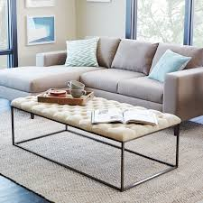 Target Threshold Tufted Bench Tufted Ottoman West Elm