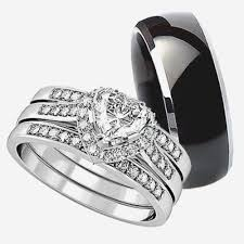 Wedding Ring Sets His And Hers by Womens Black Wedding Ring Sets Elegant Best His And Her Wedding