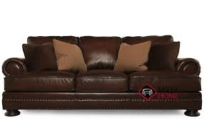 Leather Blend Sofa Ship Foster By Bernhardt Leather Sofa In By Bernhardt With