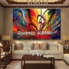 home decoration painting bright color canvas painting picture wall art home decoration hand