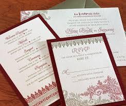 Asian Wedding Invitations South Asian Invitation Letterpress Wedding Invitation Blog