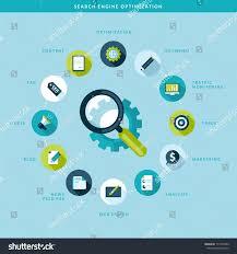 search engine optimization process flat design stock vector