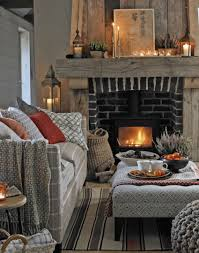 warm and cosy living room with rustic fireplace living room