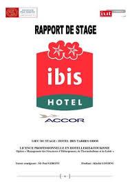 rapport de stage 3eme cuisine calaméo rapport de stage ibis hôtel