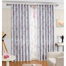 Gray And Pink Curtains Beautiful Pink Plum Flower Pattern Grey Poly Cotton Floral Curtains