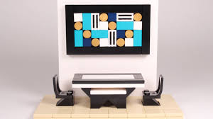 how to build lego modern dining table 1 w wall art youtube
