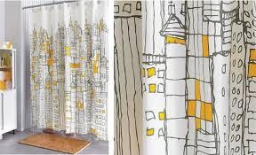 Skyline Shower Curtain Cityscapes Shower Curtain By Cb2 Via Textile Blog Com Highstreet