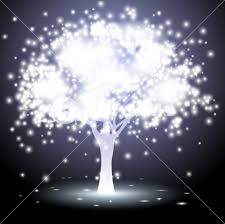 tree made of lights royalty free stock image storyblocks