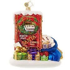 christopher radko ornament 2016 radko letters to santa mailbox