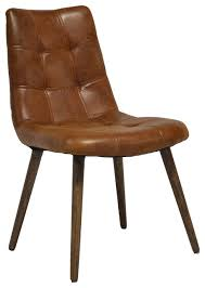 Beige Leather Dining Chairs Havana Tufted Dining Chair Midcentury Dining Chairs By The