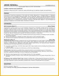 Construction Superintendent Resume Templates 100 Construction Supervisor Resume Sample Sle Resume With
