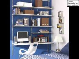 Computer Desk Bookcase Shelving Desk Wall Storage Shelves Picture Collection Youtube