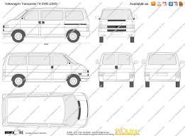 the blueprints com vector drawing volkswagen transporter t4 swb