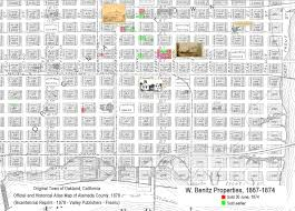 Map Of Oakland Alfred Bz Diary 1873 1874 California His First Diary