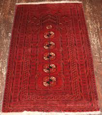 old afghan prayer rug with turkmen related design circa 1920