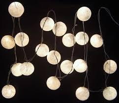 white cotton battery led lights 20 light balls uses 3 x