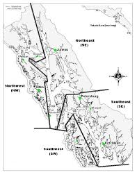 Southeast Map Map Of Southeast Alaska Showing Fishing Districts Used To