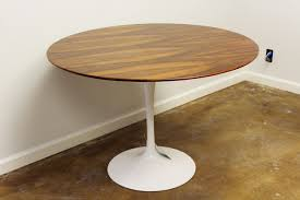 eero saarinen table u2013 rosewood veneer and tulip base u2013 furniture basix