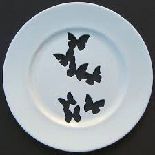 butterfly platter silhouette wall plates by andrew aphrochic modern