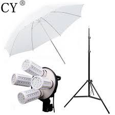 cheap umbrella lighting kit cy photo stand kit 4pcs 40w led light 83cm studio white transparent