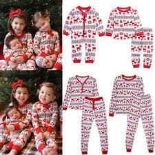 family baby deer sleepwear nightwear pajamas