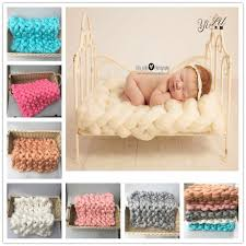 Newborn Props Aliexpress Com Buy Crochet Knit Merino Wool Rug Felt Blanket