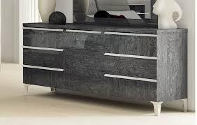Elite Bedroom Furniture Furniture Elite Grey Birch 6 Drawer Dresser In Grey