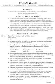 Banking Objective For Resume Investment Banking Resume Template Investment Banking Resume