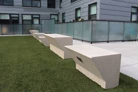 Urban Benches Custom Concrete Benches Fit Pit Seating Concrete Bar Grill At