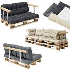 canapé en palette de bois appuie bras pour canapé palettes massif aspect de bois diy