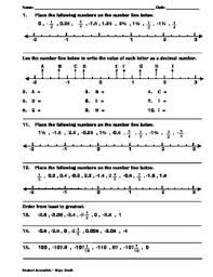 fractions on the number line worksheet ordering decimals and fractions on number line worksheet by
