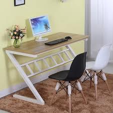 Z Shaped Desk Easy Assembling Computer Desk Office Working Z Shaped Table In