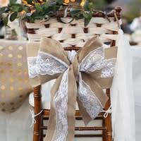 burlap chair sashes wholesale burlap wedding chair sashes buy cheap burlap wedding