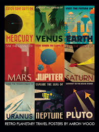 Travel Posters images Retro planetary travel poster etsy jpg