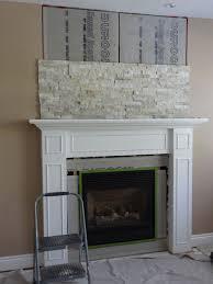 amazing resurface brick fireplace with stone home decor interior