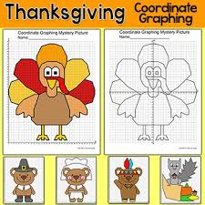 thanksgiving activities coordinate graphing mystery pictures